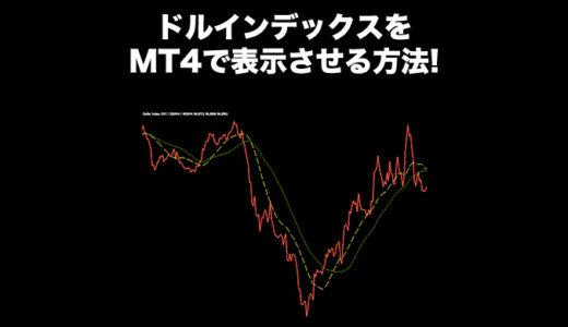 ドルインデックスをMT4で表示させる方法!インジケーターが無料でダウンロード出来る!