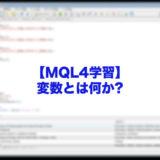 変数とは何か?-mt4-mql4-学習
