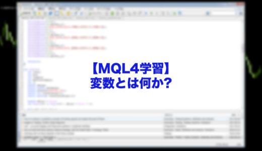 【MQL4学習】変数とは何か?MT4初心者必見!EAやインジケータープログラミングの基礎的知識!